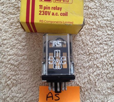 11pin relay, 230 a.c. coil, RS. Stock No 348-813